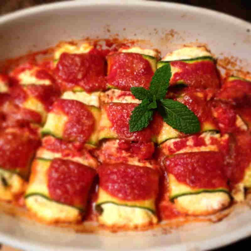 involtini zucchine ricotta