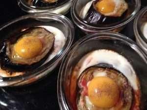 egg with eggplants